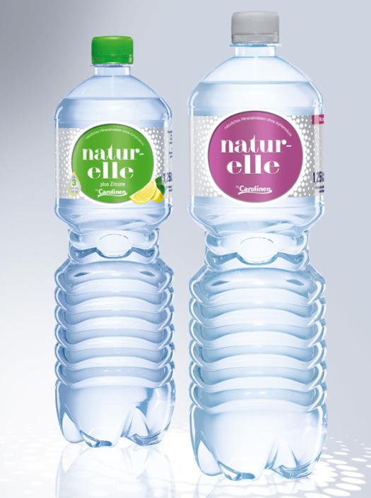 naturelle – Natürliches Mineralwasser von Carolinen – Anzeige