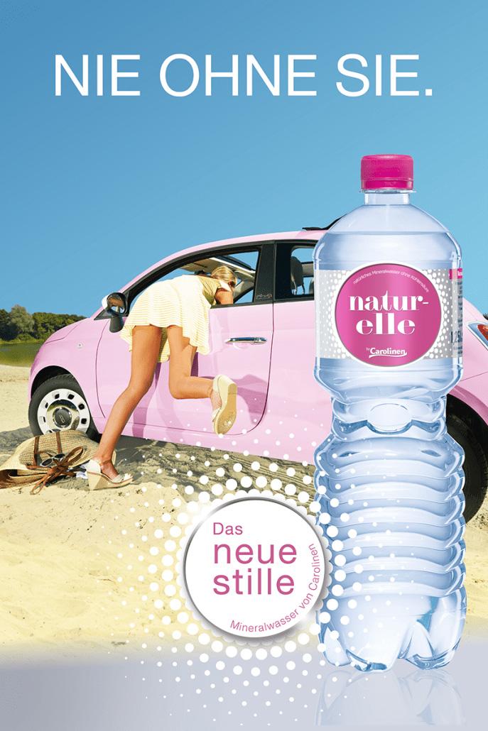 naturelle – Natürliches Mineralwasser von Carolinen