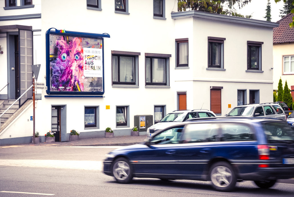 FRISCH aus Berlin Kunst Werbeplakat