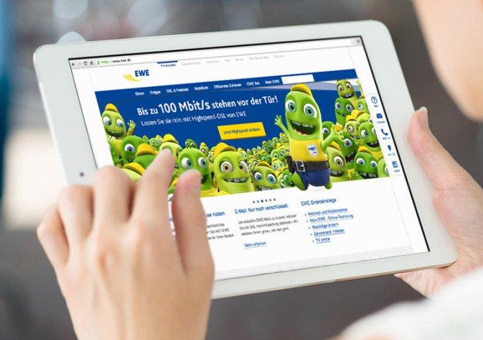 Online Banner für EWE Mbit/s