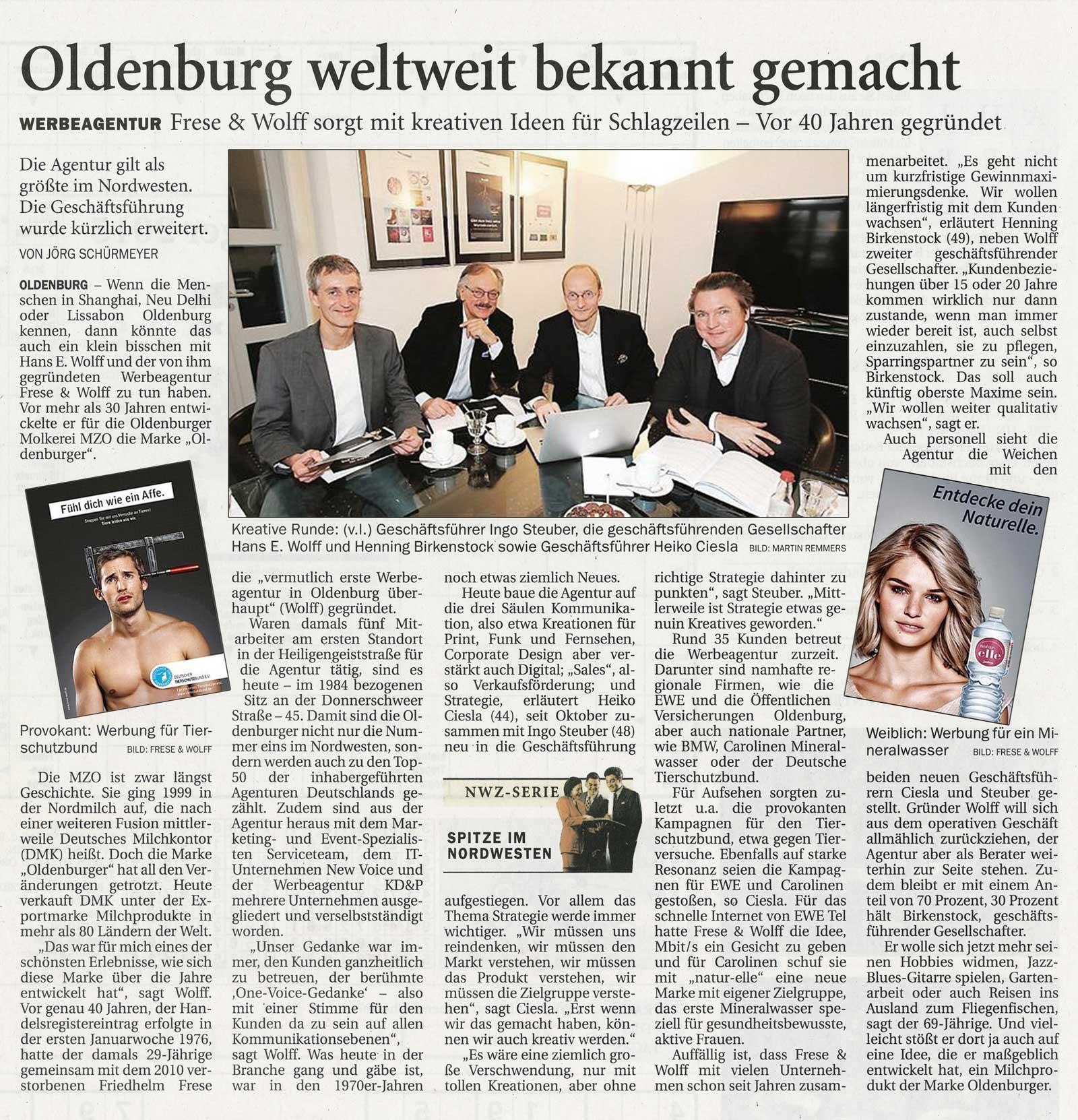 Zeitungsartikel 40 Jahre FuW