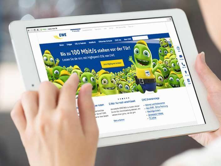 EWE – 100-Mbits – Kommunikations Kampagne