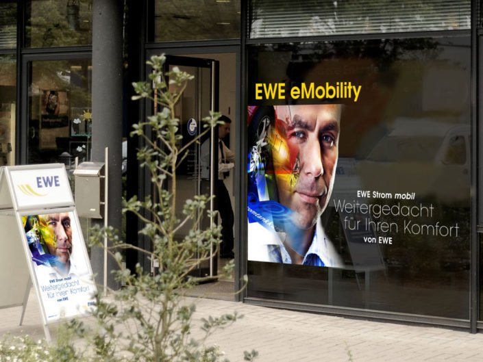 Frese & Wolff – EWE eMobility – Schaufenster PoS