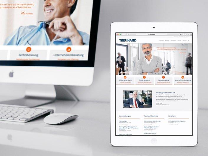 Website der Treuhand Markenrelaunch