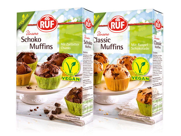 RUF Schoko Classic Muffins Packaging