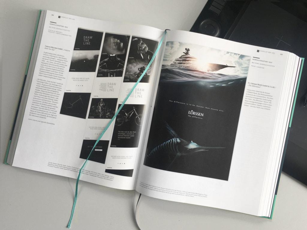 Jahrbuch der Werbung 2017 – F&W mit Lürssen Anzeige