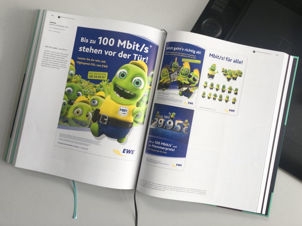 Beste Werbung für EWE im Jahr der Werbung 2017 Buch