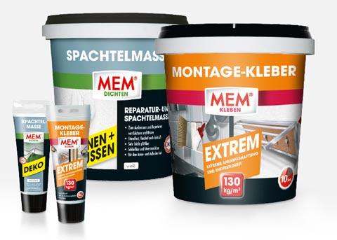 MEM - Montagekleber und Spachtelmasse