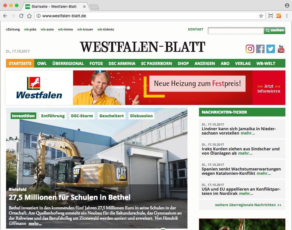 Westfalen Heizbonus – Leaderboard