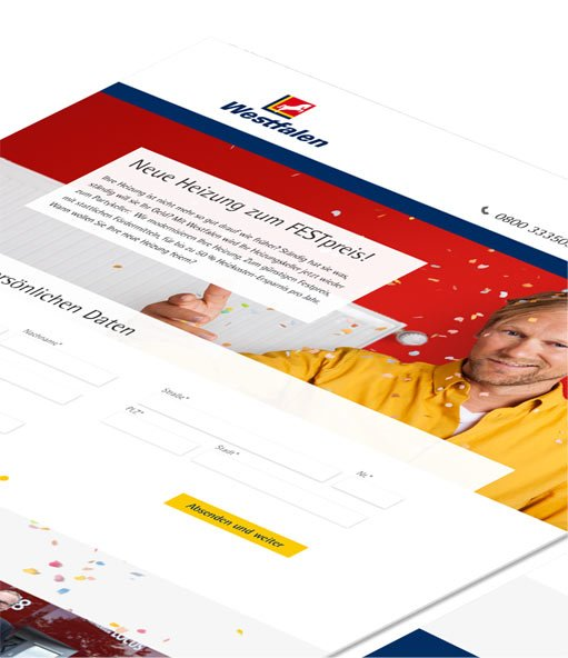 Westfalen Heizbonus – Landingpage – Screen
