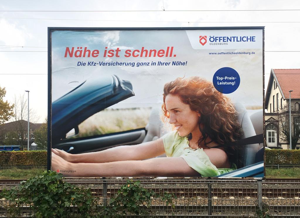 Mediastrategie – Öffentliche Versicherungen Oldenburg Großflächenwerbung