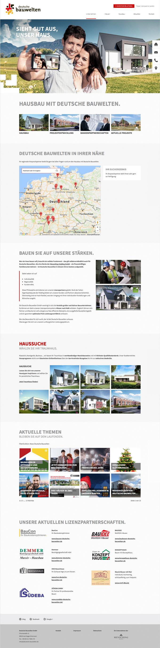 Responsive Website – Typo3 – Deutsche Bauwelten – Hannover