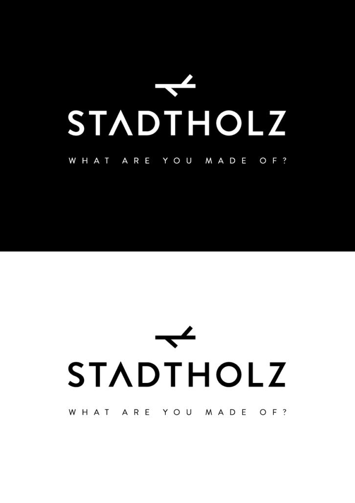 STADTHOLZ Logo – Eine Marke zeigt Kante, Corporate Design Entwicklung