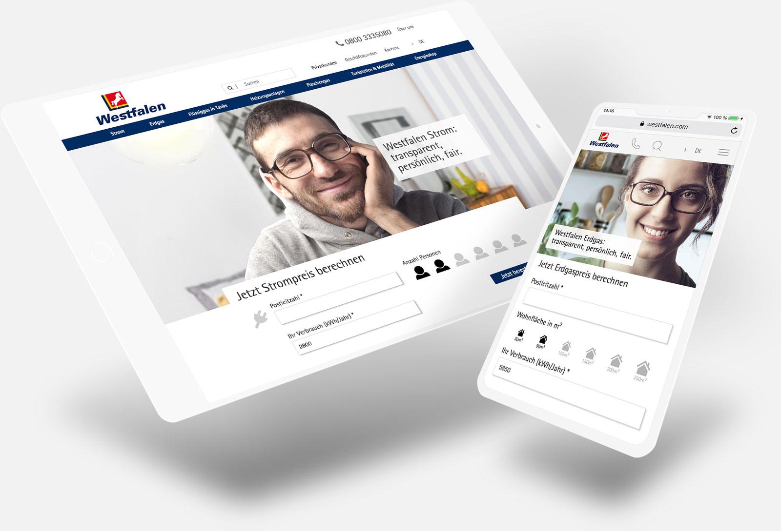 Responsiver Webshop der Westfalen AG in Hybris und Typo3