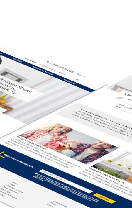 Responsiver Webshop in Typo3 und Hybris für Westfalen AG