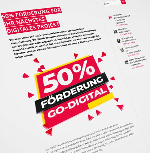 50% Förderung - Go-Digital