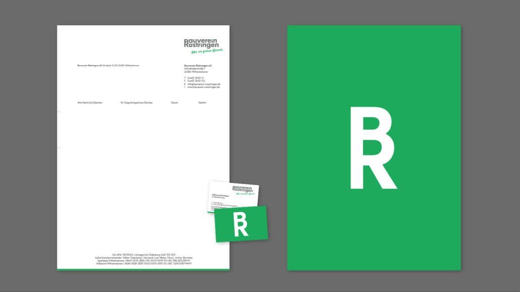 Briefbogen – Markenrelaunch Bauverein Rüstringen