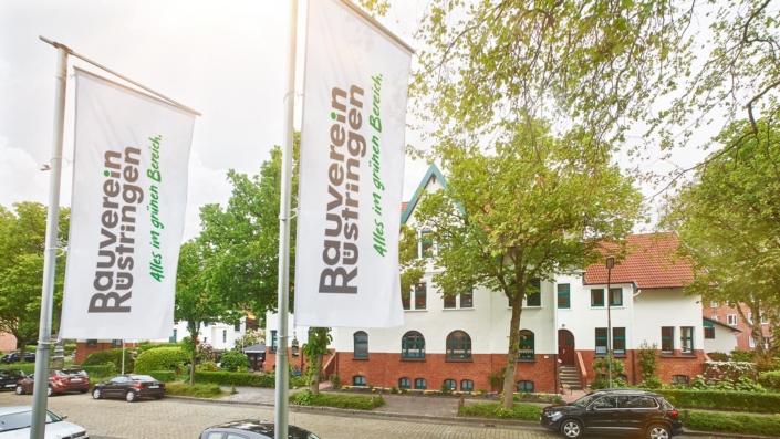 Fahnen – Markenrelaunch Bauverein Rüstringen