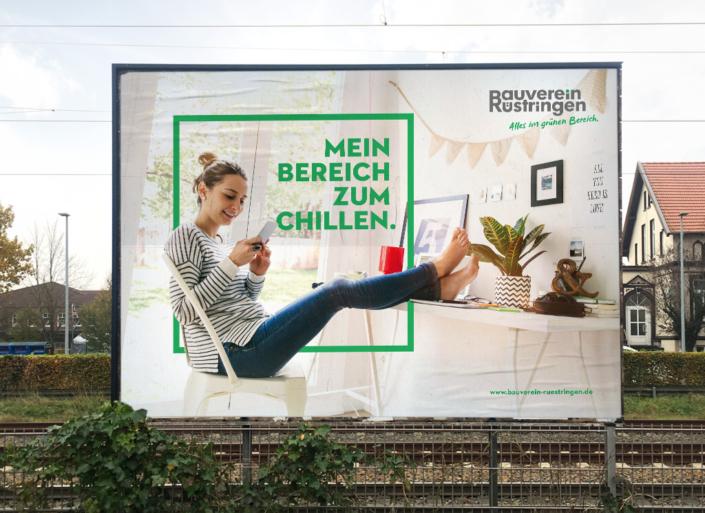 Großfläche – Markenrelaunch Bauverein Rüstringen