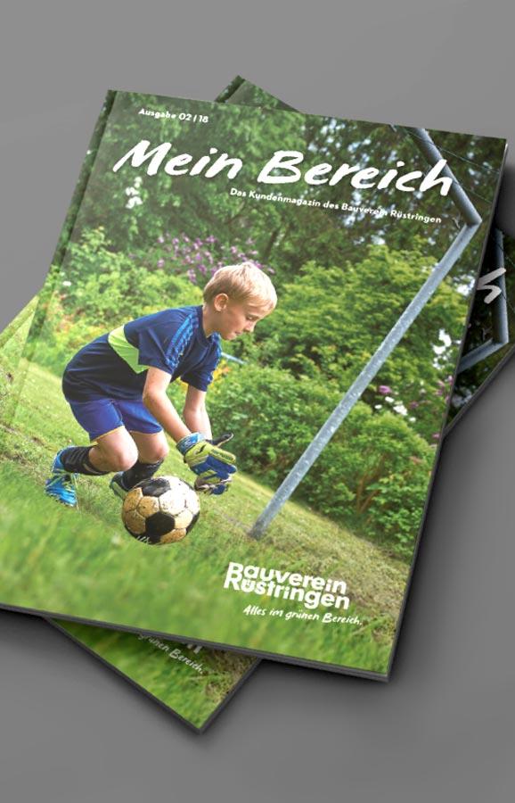 Kundenmagazin – Markenrelaunch Bauverein Rüstringen