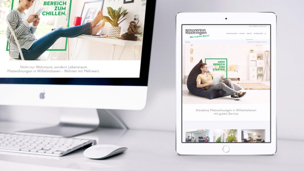 Website – Markenrelaunch Bauverein Rüstringen
