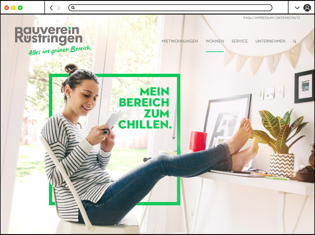Corporate Design - Website -Bauverein Rüstringen