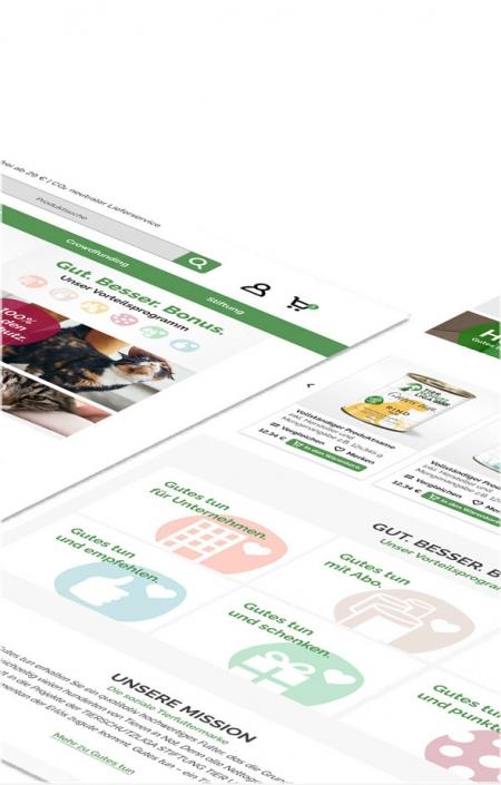 Shopware Onlineshop-Optimierung - Tierschutzliga - Desktop