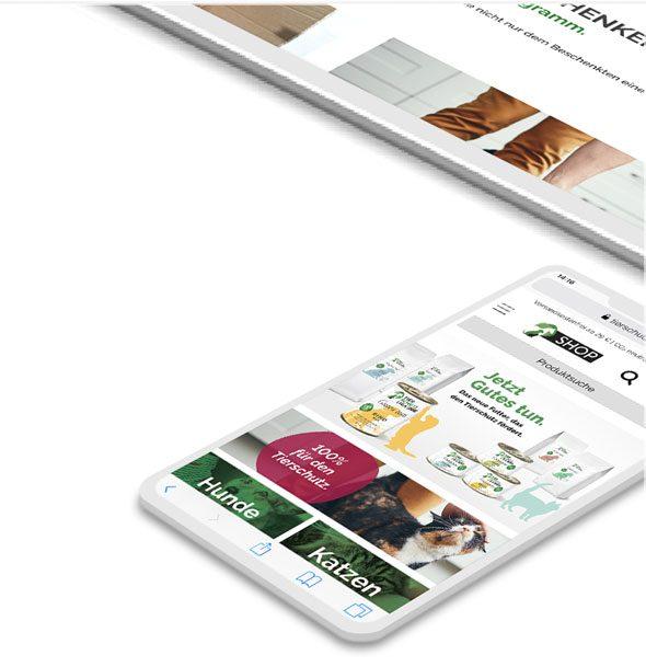Shopware Onlineshop-Optimierung - Tierschutzliga - iPhone
