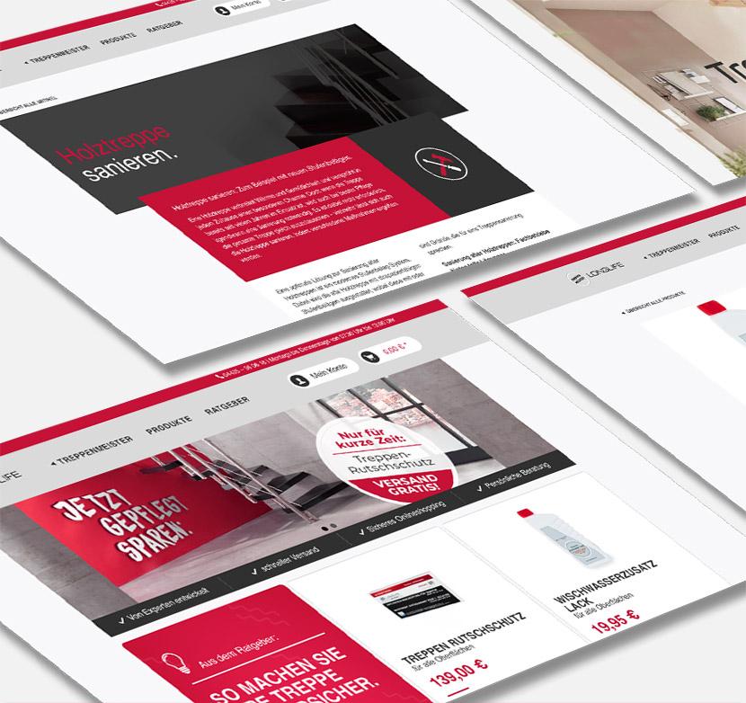 Online-Shop-Entwicklung - Treppenmeister - Treppenpflege - Shopware