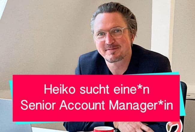 Senior Account Manager - WMD gesucht
